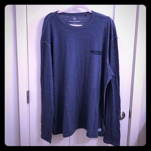 Men's NWOT Tommy Bahama Relax Long Sleeve Blue Tee
